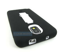 BLACK WHITE V2 IMPACT CASE COVER KICKSTAND FOR SAMSUNG GALAXY NOTE III