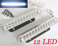 2 Car Truck 12 LED White Universal Day Daytime Running Driving DRL Fog Aux Light