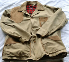 Vtg 40s 50s Red Head Canvas Hunting Jacket Coat Game Pouch Shell Storage