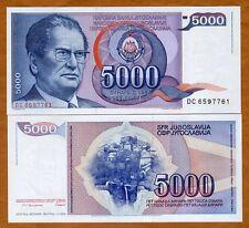 Yugoslavia, 5000 Dinara, 1985, P-93, UNC > Josip Broz Tito