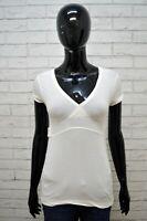 Maglia Bianca Donna G-STAR Taglia S Polo Camicia Manica Corta Shirt Woman White