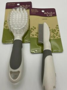 Cat Grooming tools -Bristle Brush and Flea Comb by whisker city