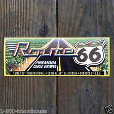 3 Vintage Original ROUTE 66 GRAPE BOX Fruit Crate Labels 1970s NOS Unused Old