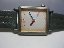 NOS 1980's Seiko Fashion Quartz Ladies Gray Leather Watch Ref. SZP271
