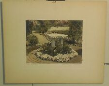 ANTIQUE MARY HARROD NORTHEND *BIRD BATH* PHOTO -FEDERAL IRON WORK & GATE GARDENS