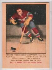 Boom Boom Geoffrion 1951-52 Parkhurst Montreal Canadiens REPRINT ROOKIE Card #14