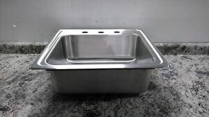 Elkay LR22193 18 x 14 In Bowl Size Silver Single Bowl Drop-In Sink w/out Faucet