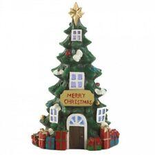 Light-Up Christmas Tree House Figurine