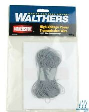 Walthers Cornerstone HO Scale High-Voltage Power Transmission Tower Wire 100ft