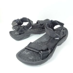 Teva Terra S/N 6670 Nylon Strap Sport Sandals Black Mens Size 10