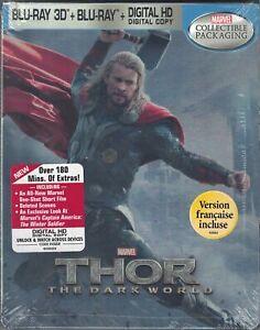 Thor: The Dark World Limited Edition Blu-Ray Collectors Steelbook [Region 1] NEW