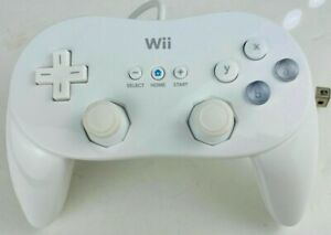 Nintendo Wii White Wired Classic Pro Controller Genuine OEM (RVL-005) Tested