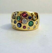 *Bunter* STERNENHIMMEL Ring 1,06  Ct .585 Gelbgold VK 3200 €