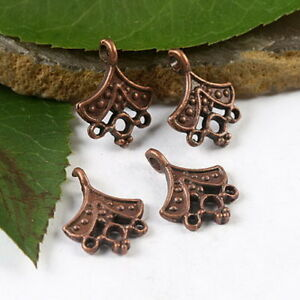 40pcs copper-tone crafted flower charms findings h1817