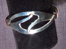 Vintage EAGLE 3 TAXCO Mexico BCE FORGED Modernist Sterling Silver Cuff Bracelet