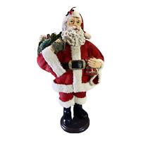 """Vintage Santa Claus Statue Figurine Hand Painted 10 1/2"""" Tall"""