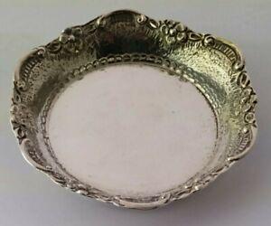 Pretty Solid Silver Pin Dish - 33g.
