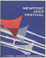NEWPORT JAZZ FESTIVAL 1959  PROGRAMME - BRUBECK,GILLESPIE,CLAYTON,RUSHING.