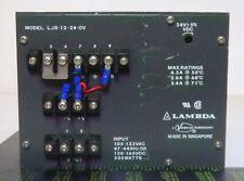 Lambda LJS-12-24-OV Adjustable Power Supply, 24V +/-5%VDC, Input: 105-132VAC