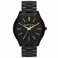 BRAND NEW Michael Kors Slim Runway Black Unisex Watch MK3221