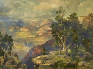 Thomas Moran Grand Canyon from Hermit Rim Road Giclee Paper Print Poster
