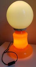 lampada vintage vetro opaline arancio space age design - doppia luce - anni '70