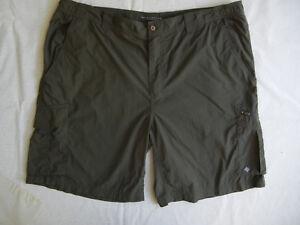 COLUMBIA CARGO Shorts  mens 42 olive green  NYLON Fishing Hiking