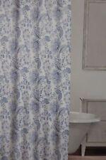 "Caro Floral Blue & White Fabric Shower Curtain 70"" x 72"" NIP"