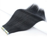 20pcs 20 inch Super Tape-in 100% Human Hair Extensions Remy A+  #1 (jet black)