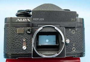Alpa 9d Reflex Camera Body...RARE !  Made in Switzerland with leather case