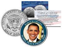 BARACK OBAMA * NOBEL PEACE PRIZE * 2009 Medal Winner JFK Half Dollar U.S. Coin