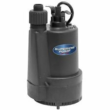Submersible Water Utility Pump 1/3 HP Thermoplastic Sump Garden Hose Adapter
