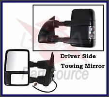 Driver Side Mirror for Ford F250 F350 F450 Power Heated Towing w/ Signal Clear