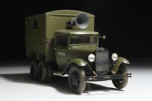 GAZ-AAA Russian truck USSR WW2 1/35 built scale model
