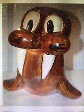 "Walrus vintage cookie jar, Doranne of California, Rare 1960's ""Chumley"""