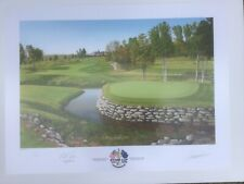 New listing RYDER CUP 2008 VALHALLA SIGNED OFFICIAL GRAEME BAXTER LIMITED EDITION PRINT