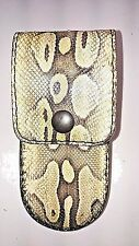 REAL BALL PYTHON SNAKE SKIN knife sheath buck 110, case 6265, Handmade BUCKTOOL