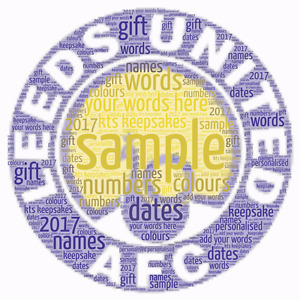 word art picture personalised gift present keepsake leeds united Birthday