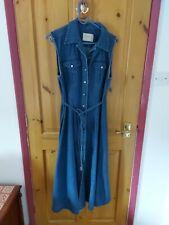 Ladies Long SUSSAN DENIM dress Size 14 100% Cotton
