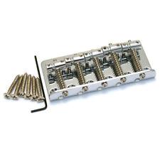 Genuine Fender Squier Chrome 5-string Top Load P/Jazz Bass Bridge 005-7814-000