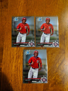 2017 Bowman Chrome Juan Soto 3 Card Lot #BCP180