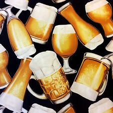 NC11 Draft Beer Mug Glass Craft Brew Drink Lager Restaurant Cotton Quilt Fabric