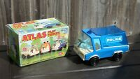 VINTAGE MARX TOYS POLICE ATLAS PLAY TRUCK BOXED 2405 RARE CLASSIC TINPLATE TOY