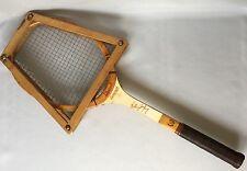 Billie Jean King Wood Tennis Racket Bancroft Signature Frame Press VTG Made USA