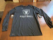 Nike Oakland Raiders Football Long Sleeve Shirt Size Large 922611-010 RARE