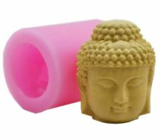 3D Silicone Mold Buddha Head Statue Candle Soap DIY Gift