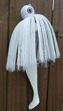 Mojo Trolling Striper Rockfish Nylon 2 - 10/0 Mustad Hooks Shad Lure Jig - White