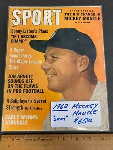 1962 JULY *SPORT* MAGAZINE *MICKEY MANTLE* COVER NEWSSTAND (MS) 91021