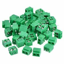 50 Pieces 2 Pin 5 mm Pinch PCB Mount Screw Terminal Block Connector 300V 10A Gr