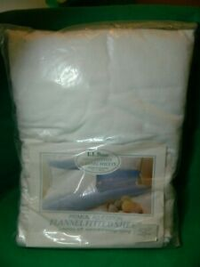 NEW VINTAGE LL BEAN COTTON FLANNEL FULL FLAT SHEET STILL IN PACK WHITE        DS